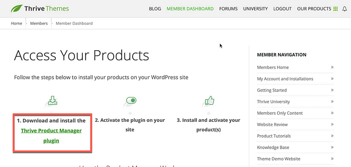 Thrive Themes Product Manager