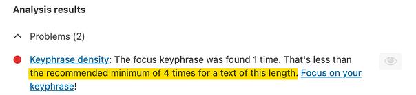 keyphrase density