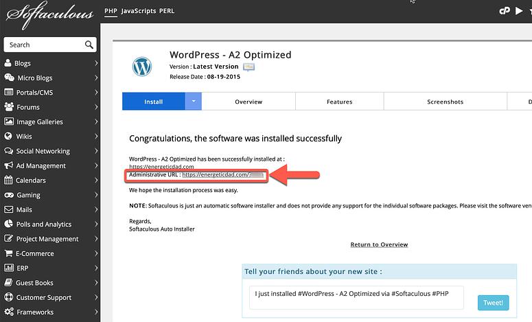 install wordpress step 6