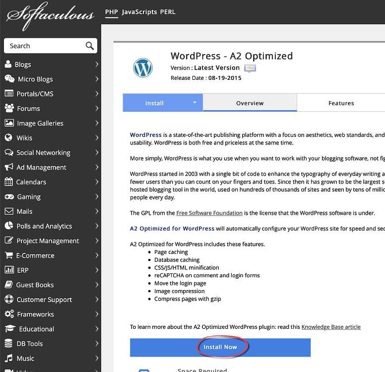 install wordpress step 2