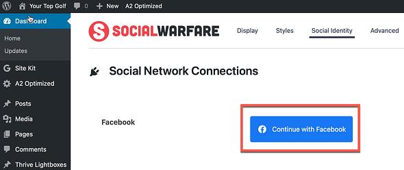 social warfare connect FB