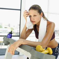 frustrated at gym