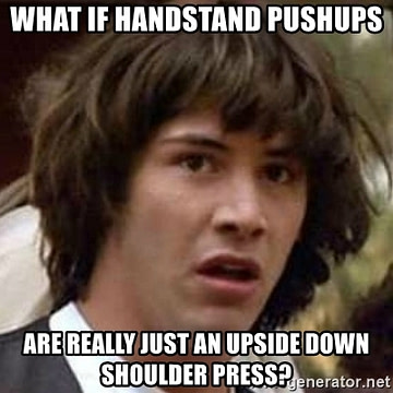 shoulder press handstand pushups