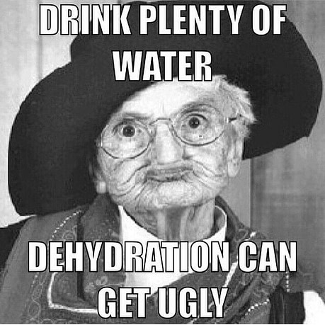 dehydration drink more water
