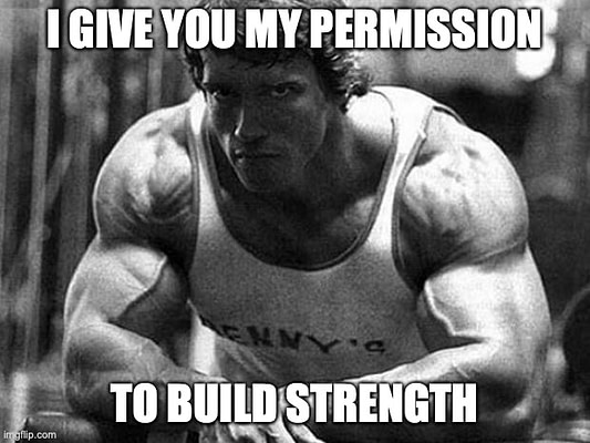 Arnold build strength meme